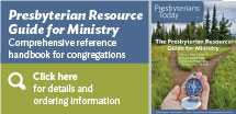 Presbyterian Resource Guide for Ministry