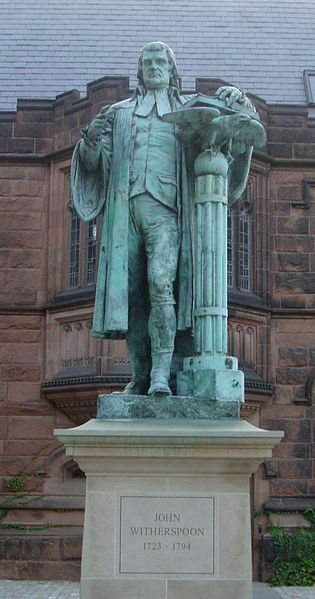 Princeton statue of John Witherspoon, Presbyterian minister and signer of the Declaration of Independence