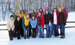 YAV staff on winter retreat