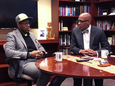 The Reverend Dr. Gregory C. Ellison, II, founder of Fearless Dialogues, appeared this week on Coffee with the Clerk with the Reverend Dr. J. Herbert Nelson, II. Photo by Randy Hobson.
