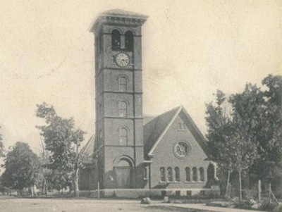 First Presbyterian Church (Sackets Harbor, N.Y.) about 1908. From RG 428, Postcard collection.