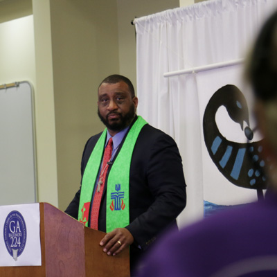Co-Moderator Rev. Gregory Bentley, 224th General Assembly (2020)