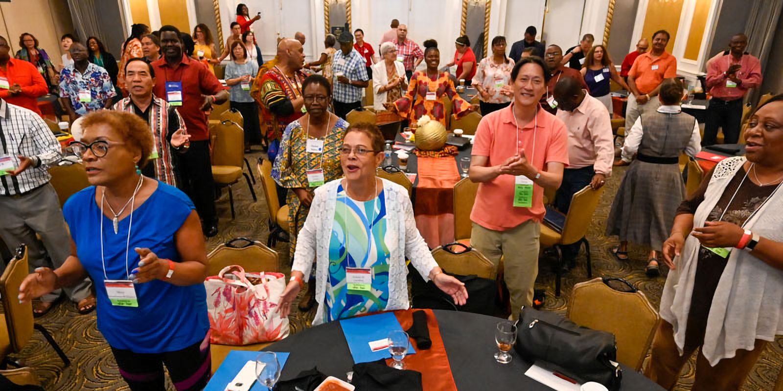 About 200 Presbyterians attended the Convocation for Communities of Color just before Big Tent officially opened Thursday. (Photo by Rich Copley)