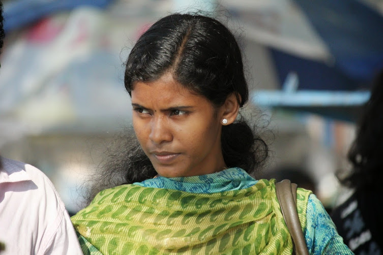 young woman in Fort Kochi