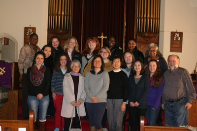 Group with the Rev. Larissa Kwong Abazia