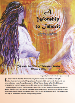 Celebrate the Gifts of Women Sunday resource cover