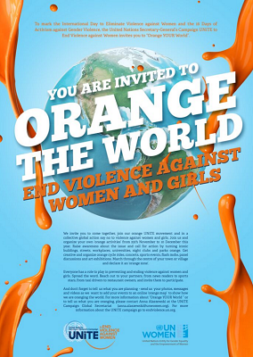 Orange the world poster