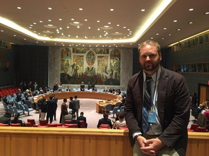 Paul Olson in UN Security Council
