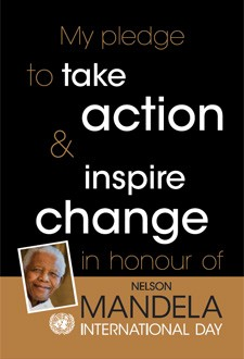 Pledge card for action on Nelson Mandela Day
