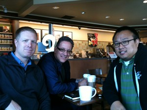 Brandon Bailey (left) Eric Eun (right) with Paul Seebeck