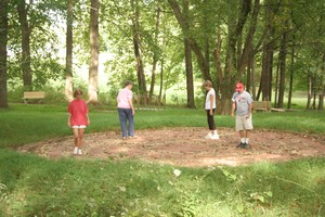 FPC Howard County people walking church labyrinth