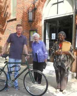 Light Street Presbyterian Church members with bike