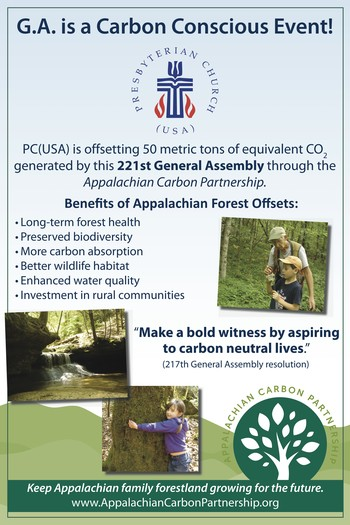 General Assembly carbon offset poster