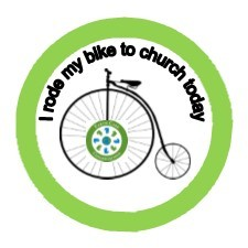 Swarthmore Presbyterian Church bike to church sticker
