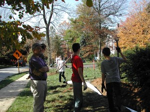 Swarthmore Presbyterian Church and Scouts managing drainage
