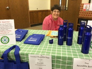 selling reusable bags and bottles for Trinity PC McKinney TX