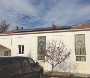 Trinity PC Santa Cruz rooftop solar panels