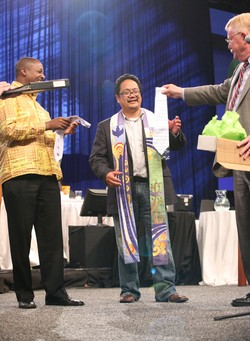 The Rev. Bruce Reyes-Chow receives a Twitter tie