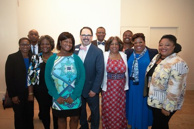 Lee Hinson Hasty, Bridgett Cannon, family and friends at the Theological Education Awards Breakfast on Thursday.