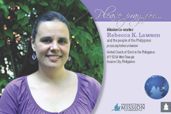 Rebecca K. Lawson prayer card