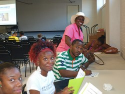 East New Orleans residents use community center resources made possible, in part, by an OGHS grant.