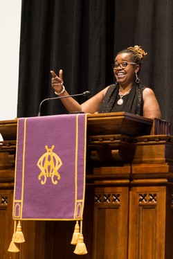 The Rev. Aisha Brooks-Lytle from Wayne (Pennsylvania) Presbyterian Church preaches at the 2016 Next Church gathering in Atlanta.