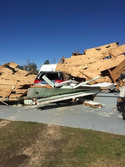 One of the homes destroyed by the tornado in Aliceville, Alabama, on February 2.