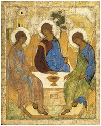 Angels at Mamre (Holy Trinity) by Andrei Rublev