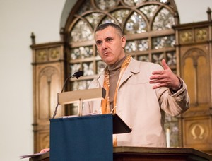 Omar Barghouti speaking on 'BDS & the Ethical Obligation to End Complicity in Oppression' at the 2015 IPMN gathering in Chicago.