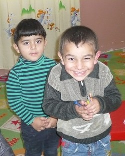 Two students from the Kirkuk Presbyterian Church Kindergarten.