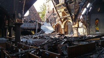 Last week's fire was confined to the historic sanctuary of the First Presbyterian Church of Englewood.