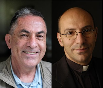 Gideon Levy and Mitri Raheb.
