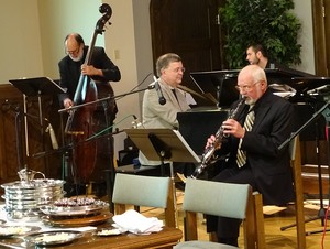 The Presbybop Quartet leads the music at First Presbyterian Church, Clarks Summit, Pa. The Rev. Bill Carter, piano; Al Hamme, sax and flute; Tony Marino, bass, Tyler Dempsey, drums.