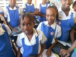 Students at the Organization of Young Girls in Action school (OJFA) in Port-au-Prince, Haiti.