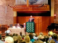 Moderator of the 221st General Assembly Heath Rada was one of the speakers at the Grace Presbytery meeting Thursday