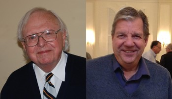 Houston Hodges and Jerry Van Marter, recipients of the 2016 Lifetime Achievement Award by the Presbyterian Writers Guild.
