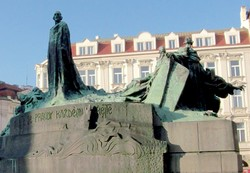 Hus Memorial in Prague's Old Town Square erected in 1915.