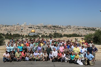 Participants of the Mosaic of Peace tour in Israel/Palestine.