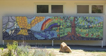 Mural outside Bethany Presbyterian Church