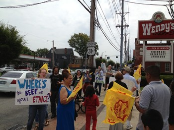 Protest at Wendy's