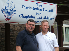 The Rev. Ed Brogan, PCCMP director, with Chaplain Peter Brzezinski.