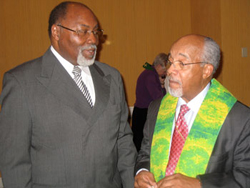Bishop John F. White and Bishop Ronald M. Cunningham.
