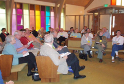 Members of the Presbyterian Urban Network gather in the chapel at Colonial Heights Presbyterian Church.