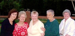 Chris Hamann, Nancy Laughlin, Shirley DuRant, Norah Casner and Jan McMurtry