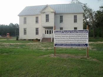 A once-derelict school building in rural South Carolina is ready to find new life in the Goodwill community.