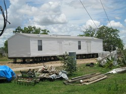 A rebuilt mobile home.