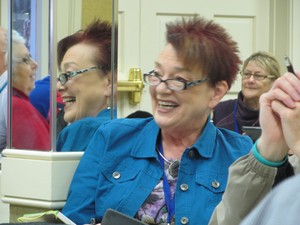 Woman enjoying a light hearted moment at Disciple-Making Church conference