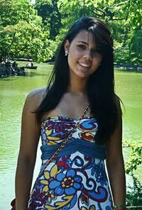 Deborah Lima 18 years old along river