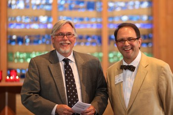 Michael Jinkins (left) president of Louisville Presbyterian Theological Seminary, and Lee Hinson-Hasty, coordinator of theological education for the PC(USA).