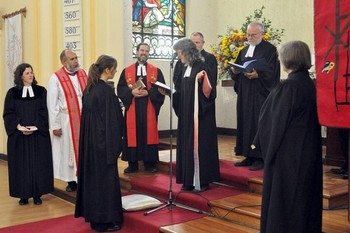 The ordination of Rev. Hanna Schramm in Santiago de Chile in April 2014.
